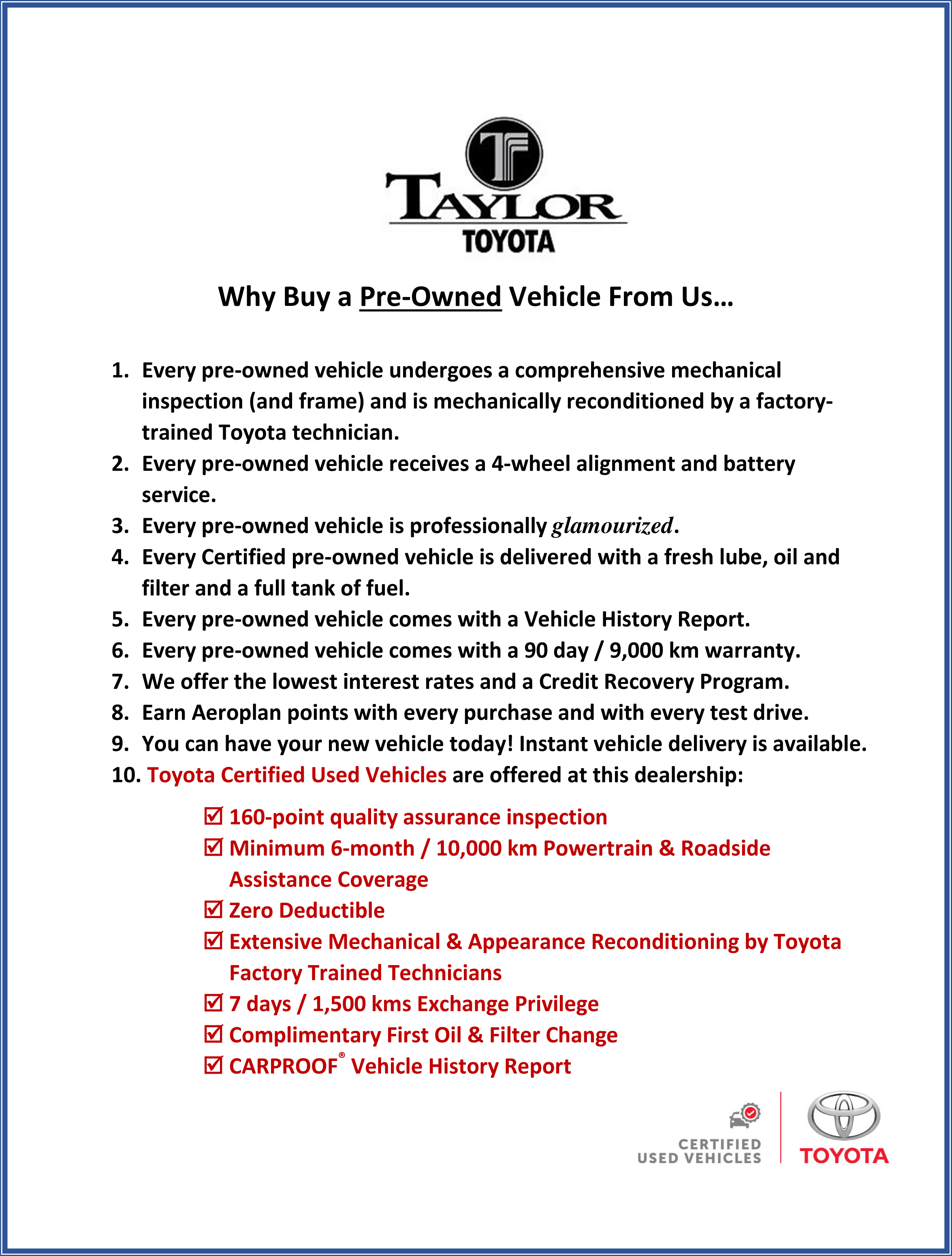 why buy pre-owned - Toyota