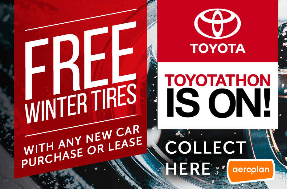 Toyotathon is on – Get FREE Winter Tires!