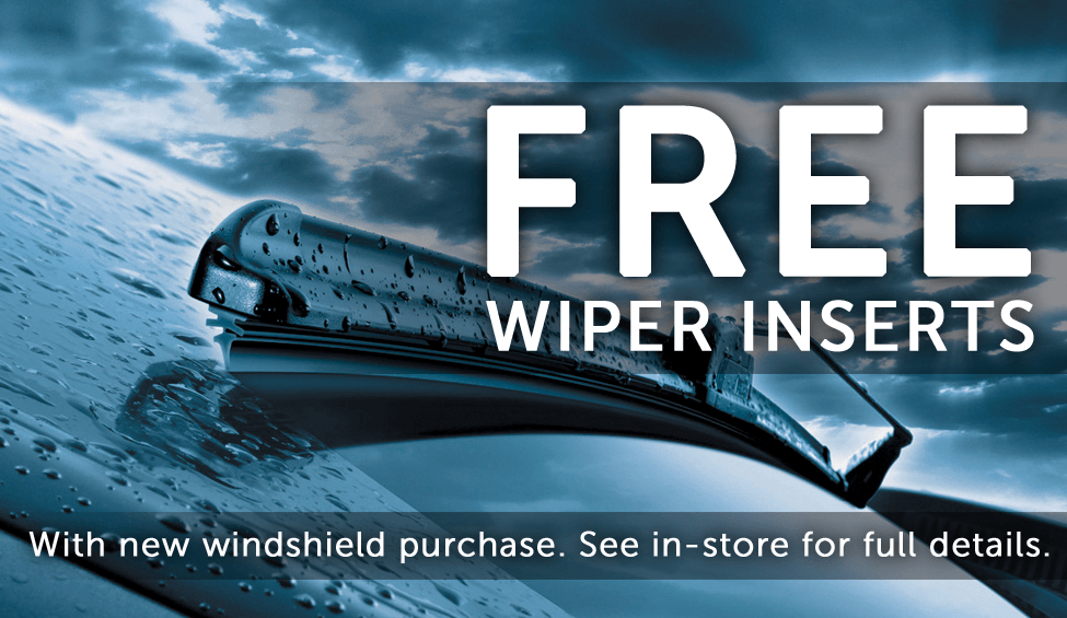 FREE Wiper Inserts with New Windshield Install!