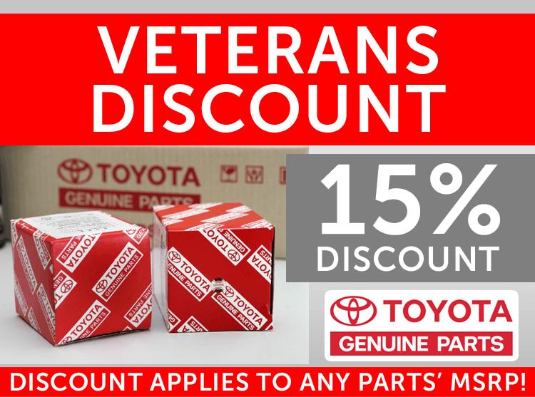 Veteran's Discount on Parts