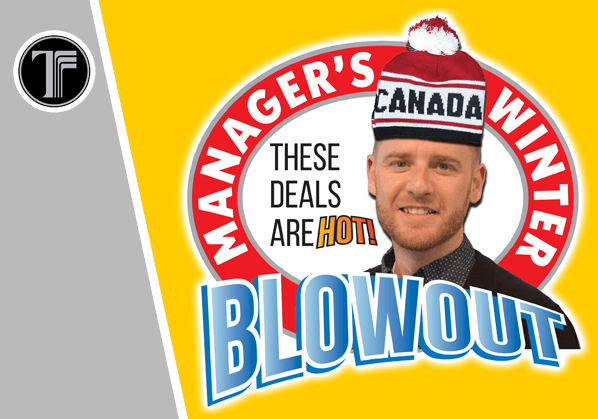 Manager's Winter Blowout