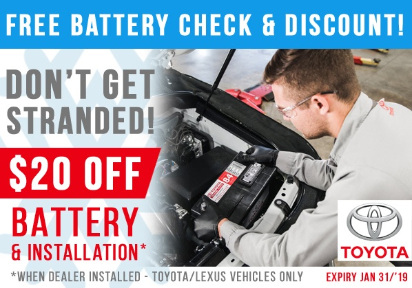 FREE Battery Check & Discount!