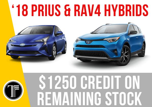 '18 Prius & RAV4 Hybrid Deals!