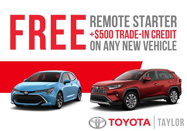 FREE Remote Starter & $500 Trade-In Credit!