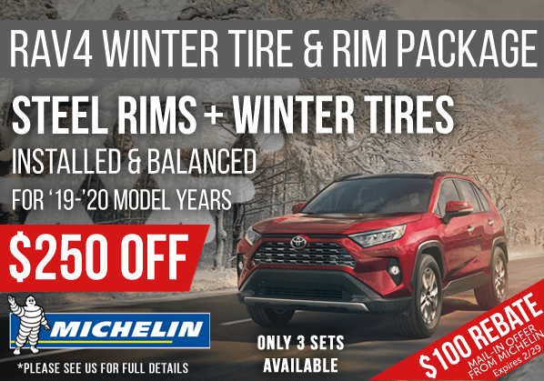 Save Now on a RAV4 Winter Tire Package!