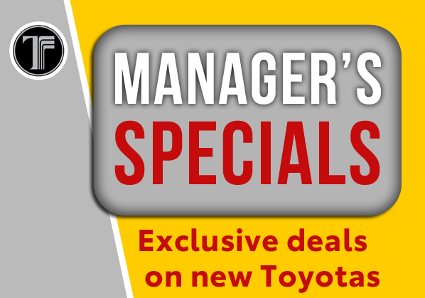 Manager's New Toyota Specials