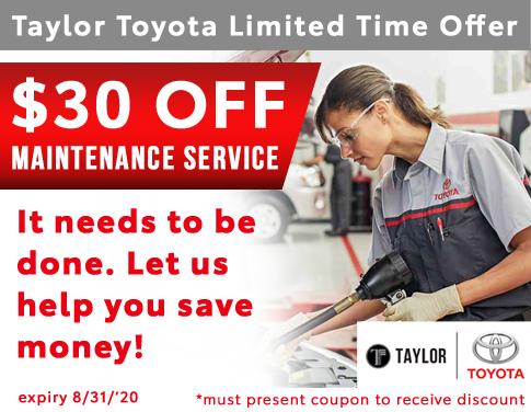 $30 Maintenance Discount Offer