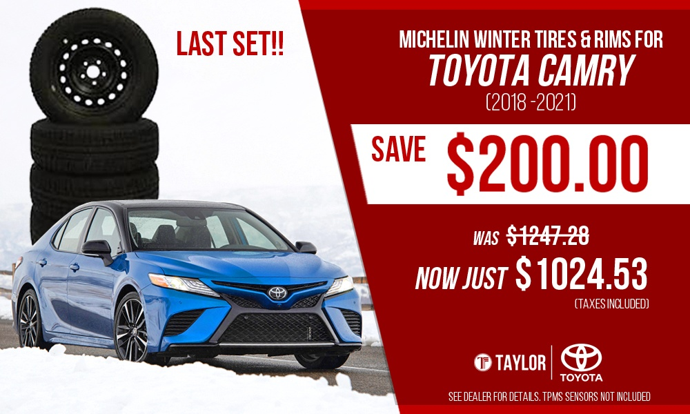 Toyota Camry Winter Tires and Rims
